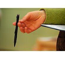La Main et le stylo Photographic Print