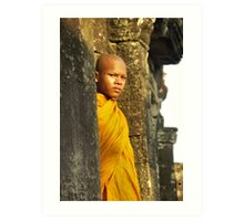 Young cambodian Monk Art Print
