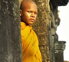 Young cambodian Monk by chrisfx