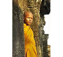 Young cambodian Monk Photographic Print