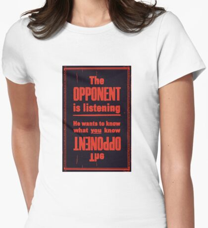 THE OPPONENT Womens Fitted T-Shirt