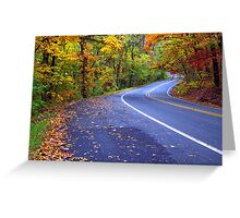 Autumn Drive On The Pig Trail Greeting Card