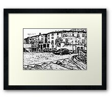 On The Road In Italy Framed Print