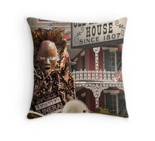 French Quarter Collage Throw Pillow