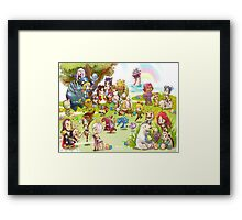 League of Legends chibi poster Framed Print