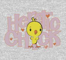 HERETIC CHICK by Tai's Tees Kids Tee