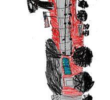 a train drawn by a kid by tinncity