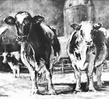 Black and White Cows by JKHowsarePearl