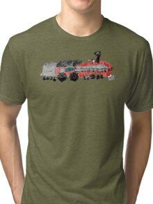 a train drawn by a kid Tri-blend T-Shirt