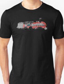 a train drawn by a kid Unisex T-Shirt