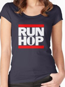 RUN HIP HOP  Women's Fitted Scoop T-Shirt
