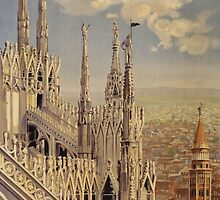 Milano' Vintage Poster (Reproduction) by Roz Abellera Art