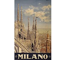 Milano' Vintage Poster (Reproduction) Photographic Print