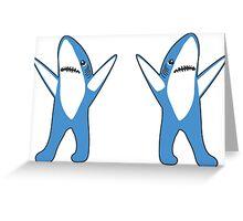 Dancing Sharks Greeting Card
