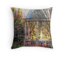 Stone Gazebo in the Venetian Gardens Throw Pillow