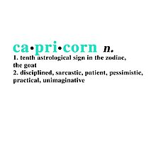 Zodiac Definitions: Capricorn Photographic Print