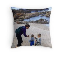 Shell Collectors Throw Pillow