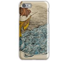 The Ship and The Swirling Sea iPhone Case/Skin