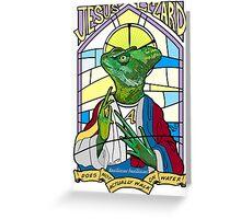 Jesus Christ Lizard by Tai's Tees Greeting Card