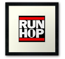 Run HIP HOP mashup - Alternative version Framed Print