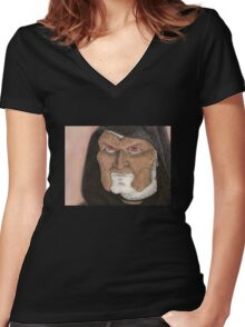 To Shanshu in L.A. - Vocah - Angel Women's Fitted V-Neck T-Shirt