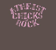 ATHEIST CHICKS ROCK by Tai's Tees Womens Fitted T-Shirt
