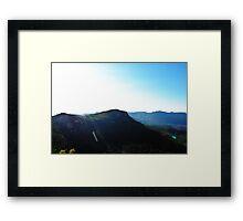 BRIGHT SUNSET Framed Print