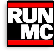 RUN MC - Hip Hop Mashup Canvas Print