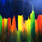 Melting Skyline Original painting by Michael Arnold
