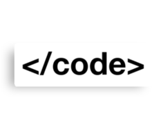 Code tag Canvas Print
