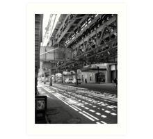 CHICAGO EL - LAKE STREET Art Print