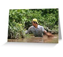 Fishing in the Mekong Delta Region Greeting Card