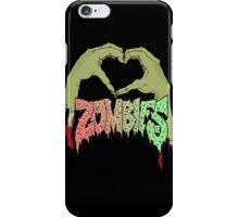 I love Zombies - Multiple products -  iPhone Case/Skin