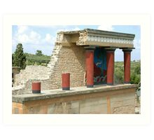 Knossos on Crete Art Print