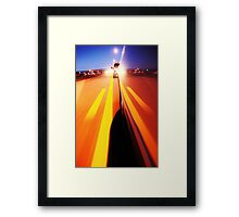 my road.. Framed Print