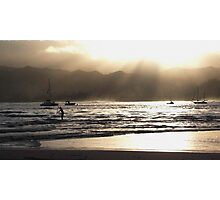 Dusk at Hanalei Bay Photographic Print