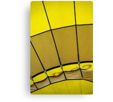 Hot air: Yellow Canvas Print