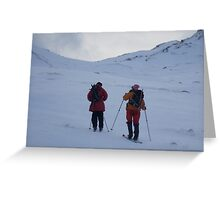 Ski touring at the back end of Ben Lawers Greeting Card