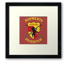 Gryffindor Quidditch Team Framed Print