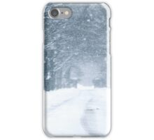 Snow Falling on Road iPhone Case/Skin