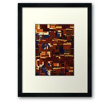 City Cutout Framed Print