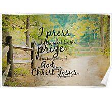 Philippians 3 Press toward Poster