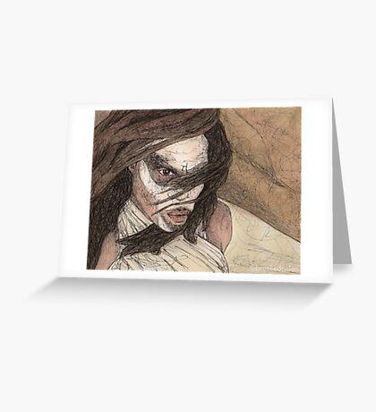 Restless - First Slayer - BtVS Greeting Card