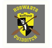 Hufflepuff Quidditch Team Art Print