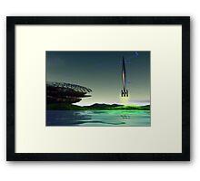Spaceport Framed Print