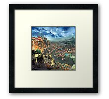 Thunderstorm over Meteora, Greece. Framed Print