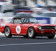 Red TR6 by zoompix
