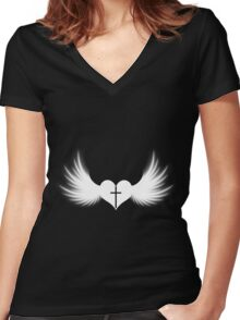 Goth faith ? (1) Women's Fitted V-Neck T-Shirt