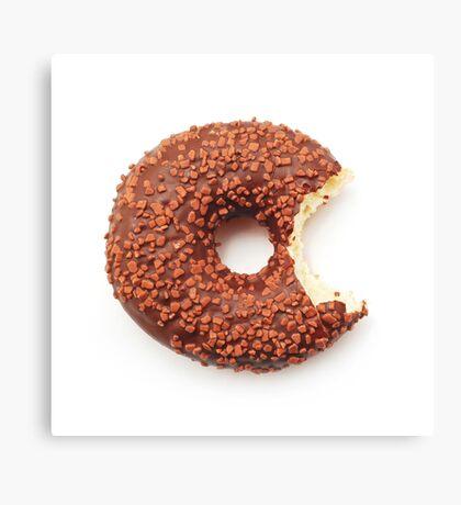 Bitten Donut Canvas Print