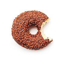 Bitten Donut Photographic Print